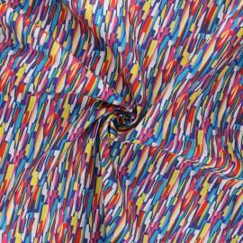 Tissu batiste de coton Dashwood Studio Kaleidoscope - Groovy rouge x 10cm