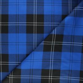 Tissu tartan Cowden - bleu roi/blanc x 10cm