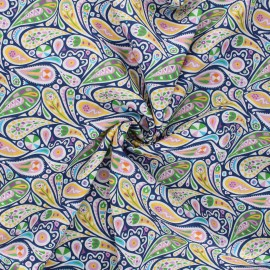 Dashwood Studio Batiste Cotton fabric - Kaleidoscope - blue Paisley x 10cm