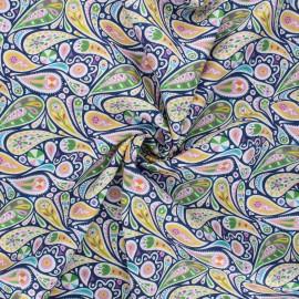 Tissu batiste de coton Dashwood Studio Kaleidoscope - Paisley bleu x 10cm