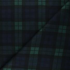 Tissu tartan Barnet - bleu nuit x 10cm