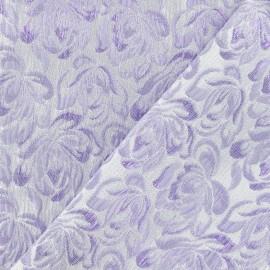 Tissu Damassé Alizé parme x 10cm