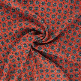 Viscose crepe fabric - red Siddhi x 10cm