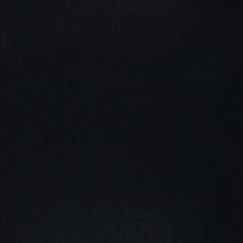 Corduroy aspect wool fabric - black x 10cm