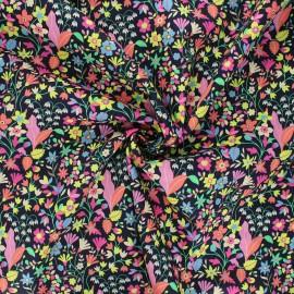 Tissu batiste de coton Dashwood Studio Kaleidoscope - Garden noir x 10cm