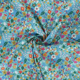 Tissu batiste de coton Dashwood Studio Kaleidoscope - Garden sarcelle x 10cm