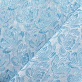 Tissu Damassé Alizé turquoise x 10cm