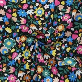 Tissu batiste de coton Dashwood Studio Kaleidoscope - Florie noir x 10cm