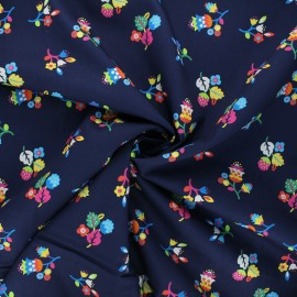 Tissu batiste de coton Dashwood Studio Kaleidoscope - Bloom marine x 10cm