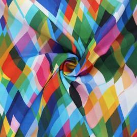 Dashwood studio rayon fabric - multicolor Somewhere Circle line x 10cm