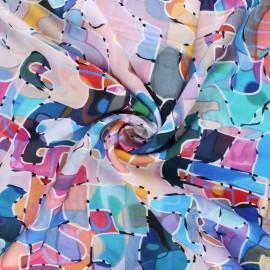 Dashwood studio rayon fabric - purple Paint Circle line x 10cm