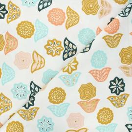 Tissu coton Cotton Steel Modern Meadow - Basket Blooms - orange x 10cm