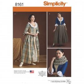 Patron Déguisement femme Robe Moyen âge - Simplicity n°8161