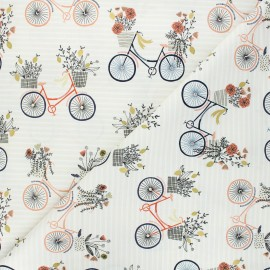 Summer in the Cotswolds cotton fabric - beige Evening ride x 10 cm