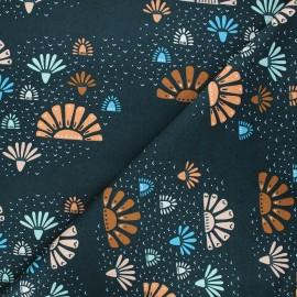 Tissu coton Cotton Steel Modern Meadow - Daybreak - bleu nuit x 10cm