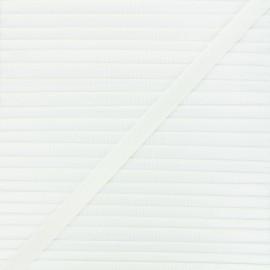 Elastique satin Glow 10mm - écru x 1m
