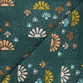 Tissu coton Cotton Steel Modern Meadow - Daybreak - vert sapin x 10cm
