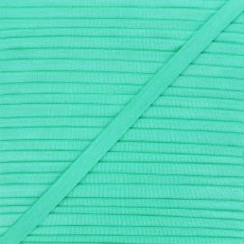 10mm satin elastic - green Glow x 1m