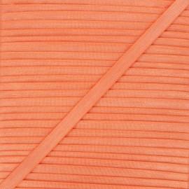 10mm satin elastic - orange Glow x 1m
