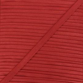 10mm satin elastic - brick red Glow x 1m