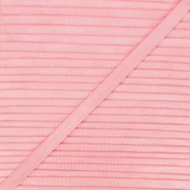 10mm satin elastic - light pink Glow x 1m