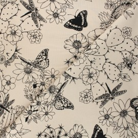Alexander Henry cotton fabric - sand Hacienda cactus x 10 cm