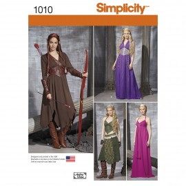 Elf Woman Cosplay sewing Pattern - Simplicity n°1010