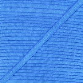 10mm satin elastic - royal blue Glow x 1m