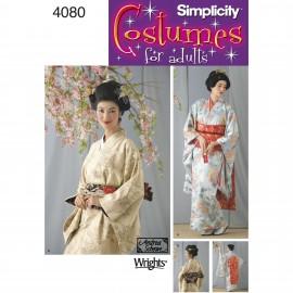 Geisha Cosplay sewing Pattern - Simplicity n°4080