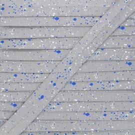 Biais jersey coton 20 mm Stains - gris x 1m
