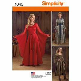 Dress Woman Cosplay sewing Pattern - Simplicity n°1045