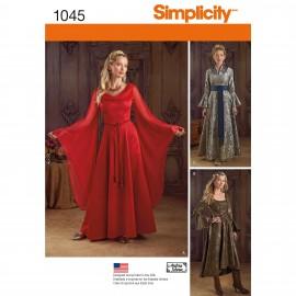 Patron Déguisement femme Robe Renaissance - Simplicity n°1045