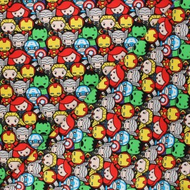 Tissu coton Marvel Comics Avengers assembly - multicolore x 10 cm