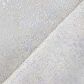 Tissu Damassé Mahée argent x 10cm
