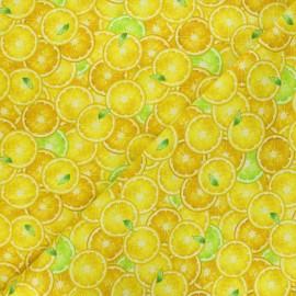 Timeless Treasures cotton fabric - yellow Lemon slices x 10cm