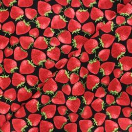 Tissu coton Timeless Treasures  - Tossed strawberries - rouge x 10cm