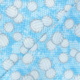 Timeless Treasures cotton fabric - blue Volleyball x 10cm