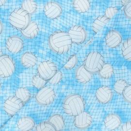 Tissu coton Timeless Treasures  - Volleyball - bleu x 10cm