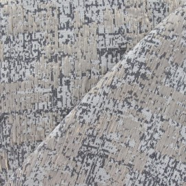 Tissu Damassé Hanalé beige x 10cm