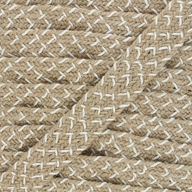 30 mm herringbone jute strap - white x 1m