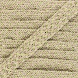 30 mm herringbone jute strap - pistachio green x 1m