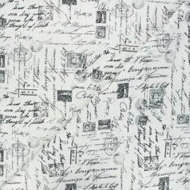 Tissu coton Timeless Treasures  - Script - écru x 10cm