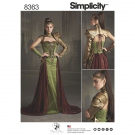 Woman Warrior Cosplay sewing Pattern - Simplicity n°8363