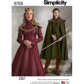 Patron Déguisement médiéval femme - Simplicity n°8768