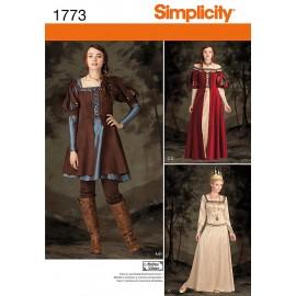 Medieval Queen cosplay sewing Pattern - Simplicity n°1773