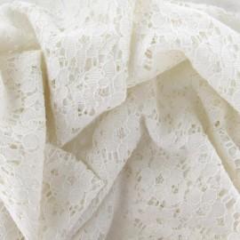 Shanelle Lace Fabric - Ecru x 10cm