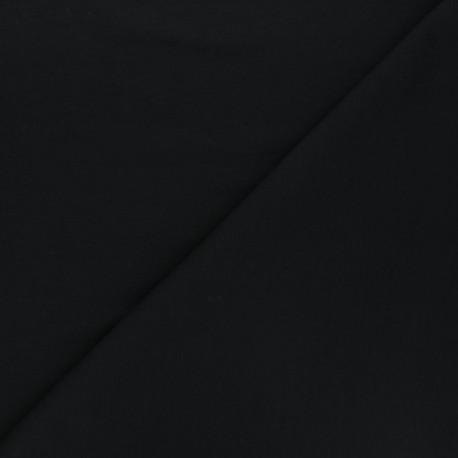 Tissu jogging jersey léger noir x 10cm