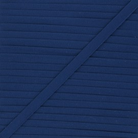 Galon aspect gros grain bleu de nuit 10 mm