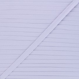 Galon aspect gros grain lavande 10 mm