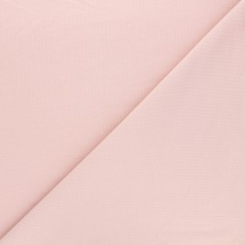 Tissu sweat léger uni - rose clair x 10cm
